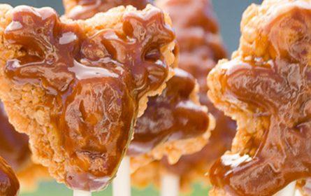 Caramel Pumpkin Spice Crispy Treats   Twisted Tastes