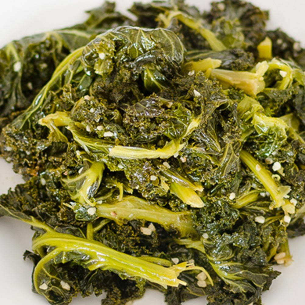 Kale Greens and Garlic | Twisted Tastes