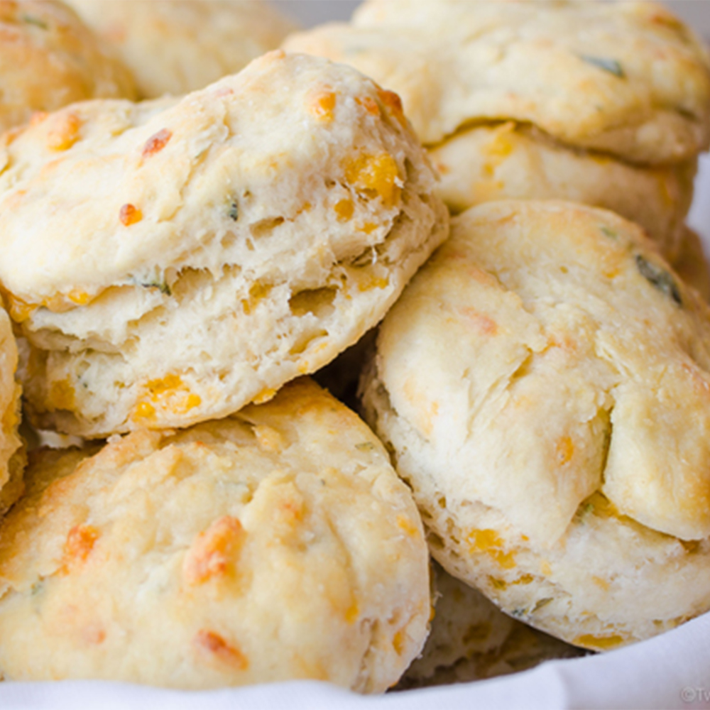 Cheddar Sage Biscuits | Twisted Tastes