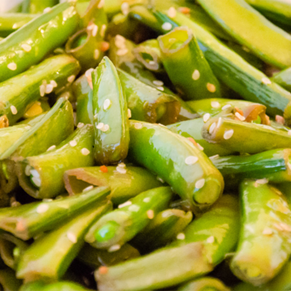 Use These Cookbooks If You Re Broke But Still Want To Eat: Sesame Sugar Snap Peas